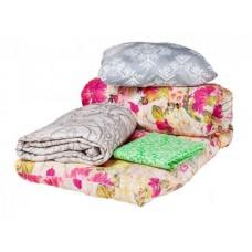 """Спальный комплект для общежития """"Студент Люкс"""" - ватный матрас 80х190, силиконовая подушка, одеяло и постельное белье"""