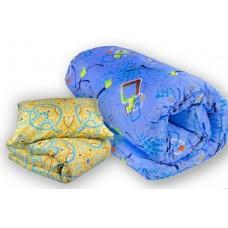 """Комплект спальный для студентов """"Студент Лайт"""" - ватный матрас 80х190, силиконовое одеяло и подушка"""