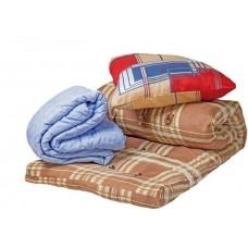 """Комплект спальный для строителей и рабочих """"Строитель Эконом"""" - ватный матрас 70х190 см, шерстяное одеяло и подушка для строителей"""