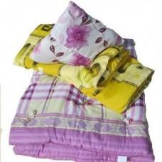 Набор спальный для общежития из 3 предметов - ватный матрас 70х190, подушка, одеяло