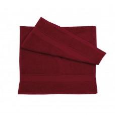 Полотенце махровое Ярослав (400 г/м2) 40х70 бордовое