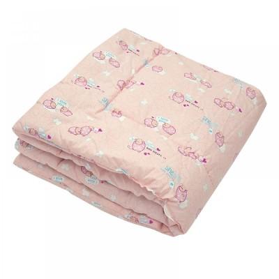 Одеяло детское стеганое силиконовое Ярослав (бязь) 105х140 розовое