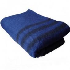 Одеяло полушерстяное армейское Ярослав 140х205 синее с полосами (550 г/см2)