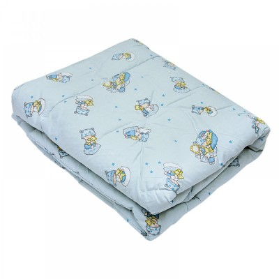 Одеяло детское стеганое овечье Ярослав (бязь) 105х140 голубое