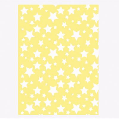 Одеяло детское хлопковое Ярослав 100х140 звездочки желтое