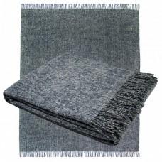 Плед из мериносовой шерсти Ярослав 140х200 серо-синий 2.1