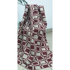Одеяло шерстяное эконом Ярослав 140х205 красное плотность 600г/м2